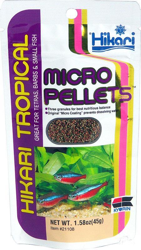 Hikari Tropical Micro pellets -один из лучших кормов для рыб в аквариуме с живыми